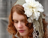 Mori Girl Headband Shabby Chic Flower - GreenTrunkDesigns