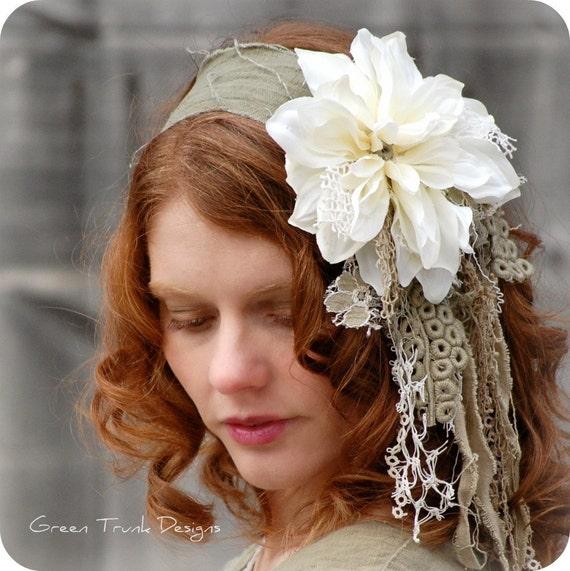 Mori Girl Headband Shabby Chic Flower