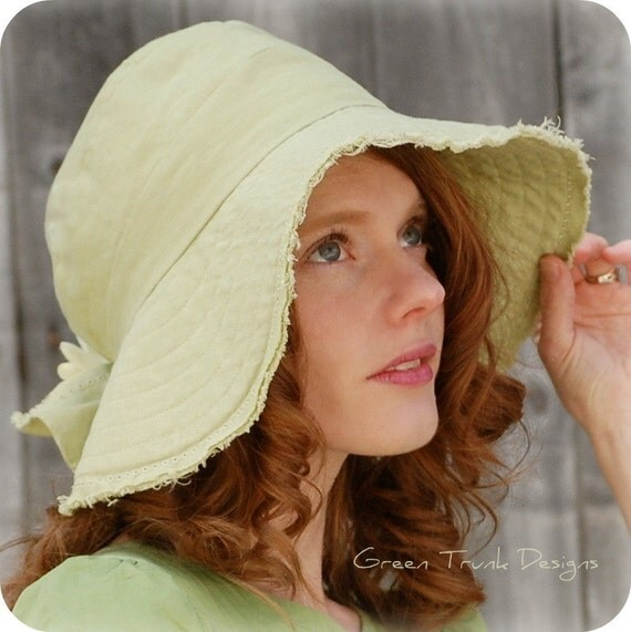Spring Green Wide Brimmed Cloche Hat