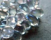 Perles de verre tchèque 9 x 6mm w/arc en ciel clair Aurora Borealis revêtement Teardrops - 40 pièces