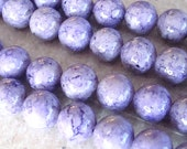Fossil Beads 4mm Natural Lilac Purple Smooth Round Stones - 8 Inch Strand