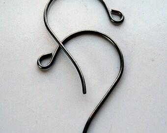 Brass Findings 32 x 16mm Vintaj Natural Brass Loop Ear Wires - 5 pairs