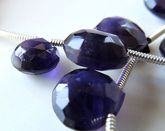 Amethyst Beads Purple Passion 10mm Faceted Heart Brios -  8 inch Strand