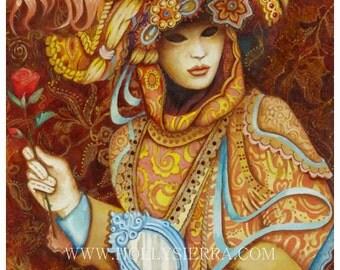 Bella Rosa -   Masquerader At The Carnival Of Venice