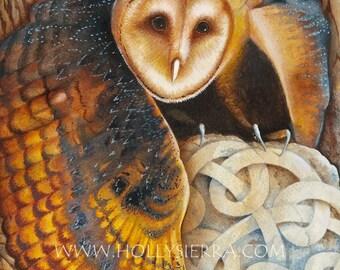 The Celtic Owl - A Fine Art Greeting Card