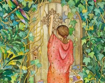Little Red Riding Hood - A Fine Art Greeting Card