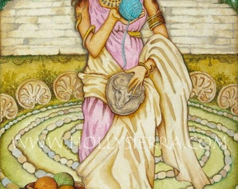 Ariadne - A Fine Art Greeting Card
