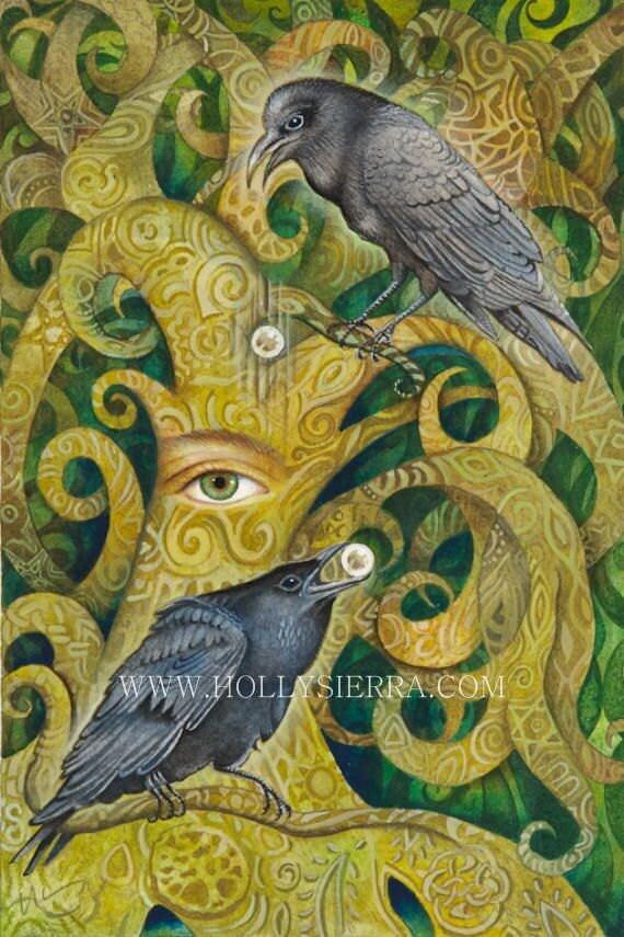 Huginn And Muninn - Odin's Norse Messengers
