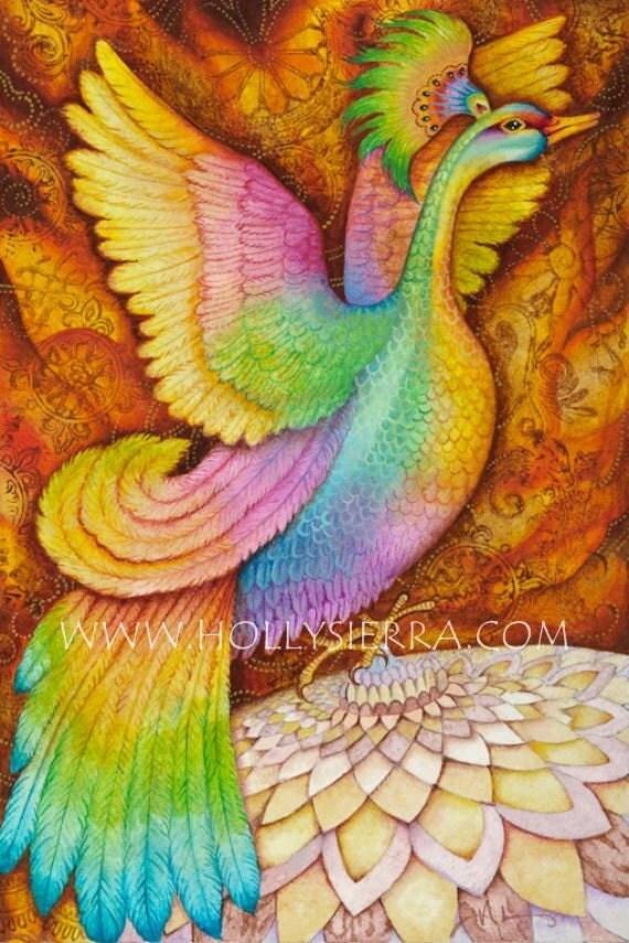 Phoenix - A Fine Art Greeting Card