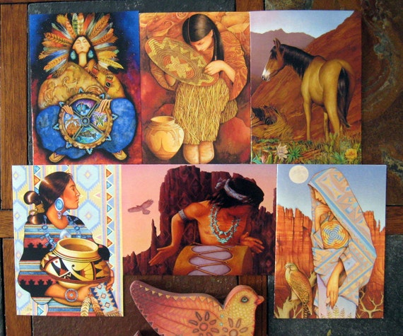 SIX Holly Sierra Art Cards - A Group Of Southwestern Fine Art Cards