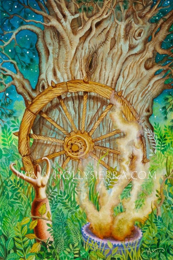 The Wheel Of Fortune - A Fine Art Greeting Card