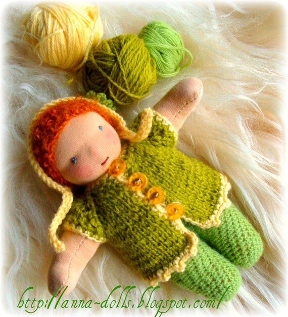 Waldorf inspired Pocket doll.   (7 inch)
