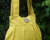 Small Yellow Canvas Shoulder Bag