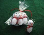 Snowmen baubles (pack of 4)