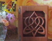 Stylized Celtic Heart Cabinet-Knot of Everlasting Love-Heart Shape-Wood Carved