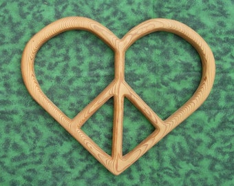 Peace and Love - Heart shaped Peace Sign