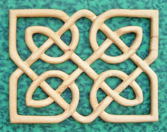Matrimonial Knot Panel - Celtic Wedding Band - Love Knot Wood Carving
