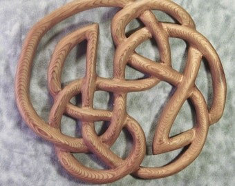Knot of Infinity-Traditional Celtic Knot for Weddings Anniverary-Book of Kells-Woodcarving