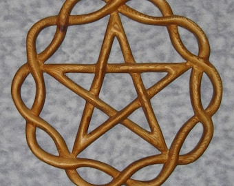 Braided Pentacle-Eternity Braid Containing Pentagram for Protection