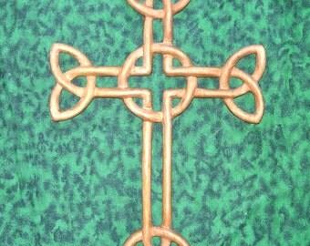 Cross of Daniel- Irish Woven Cross-Wood Carved Celtic Christian Cross-St. Patrick