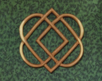 Celtic Knot of Four Hearts-Family Love Knot Wood Carving