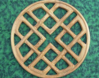 Celtic Knot of Love and Harmony-Heart Shape Wood Carving- Wedding - Fifth Anniversary - Wood Anniversary