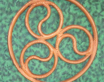 Triple Spiral - Newgrange Spiral-Yin Yang-Symbol of Balance and Movement