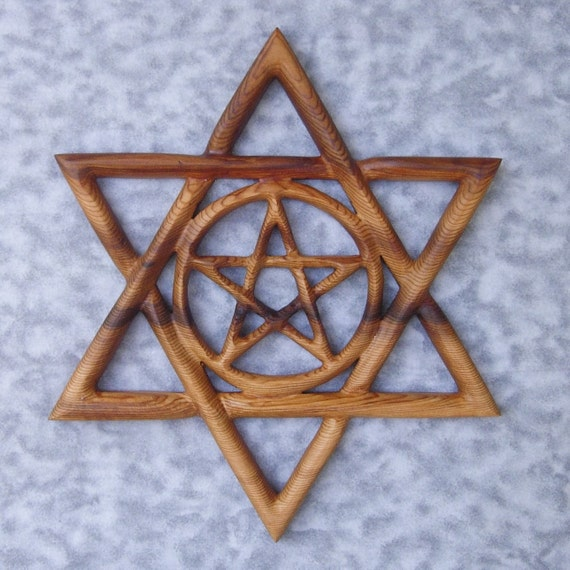 Kabbalistic Star-Celtic Pentacle within Star of David Knot for Jewish Pagans
