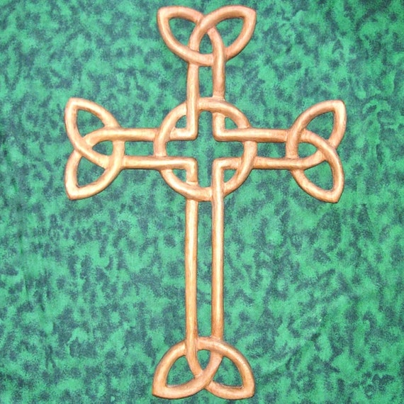 Cross of Daniel- Irish Woven Cross-Wood Carved Celtic Christian Cross-St. Patrick