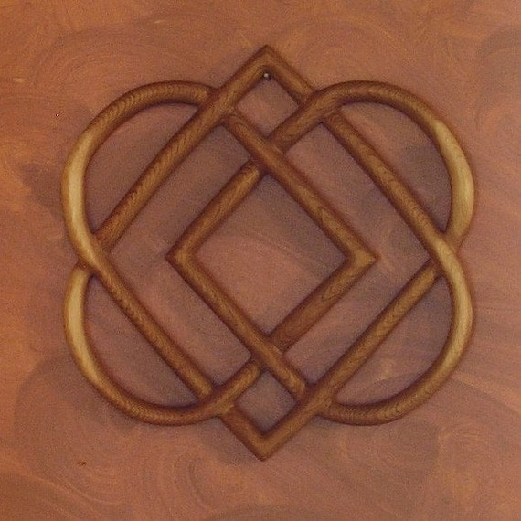Celtic Knot Of Four Hearts Family Love Knot Wood By Signsofspirit