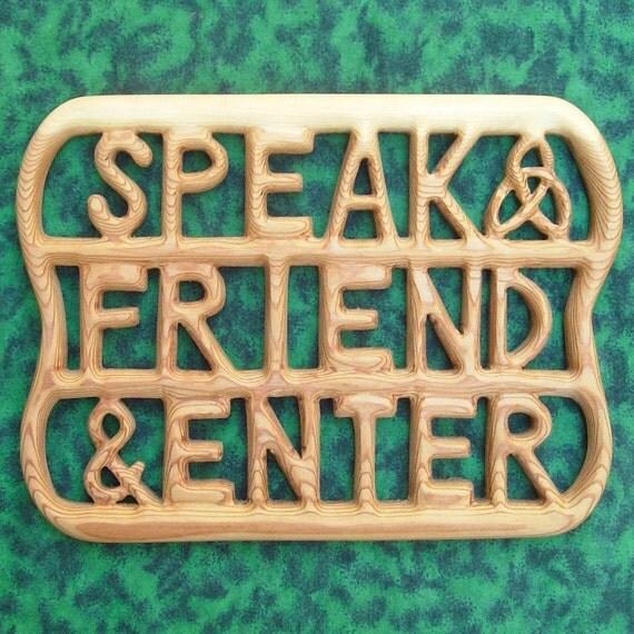 Doors of Durin-Speak Friend and Enter-West-Door of Moria