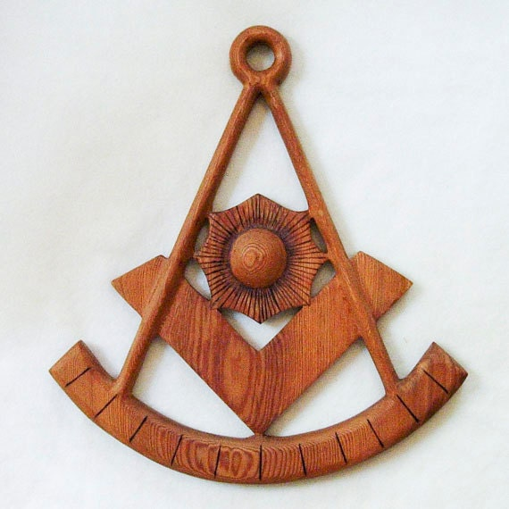 Past Master of Craft Lodge Masonic Symbol-The Compass, Square, Sun, and Quadrant