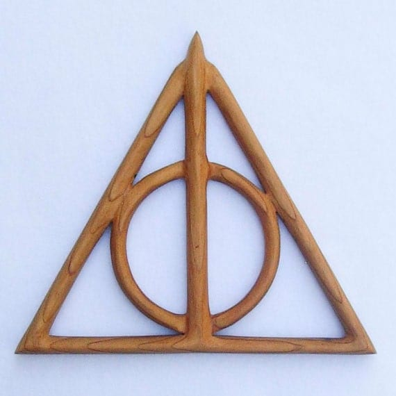Deathly hallows wood carving cloak of invisibility for Wooden elder wand