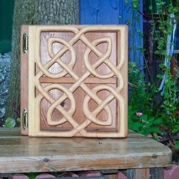 Matrimonial Cabinet-Celtic Knot of Endless Devotion Wood Carving