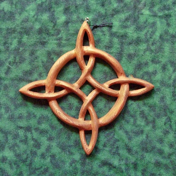 Miniature Compass Rose-Celtic Knot of Journey and Return-Sailors Knot Wood Carving