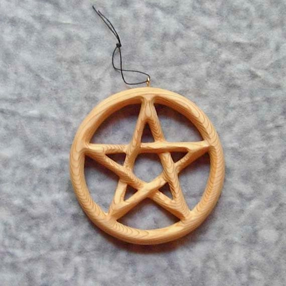 Miniature Pentacle-Encircled Pentagram - Contain and Protect - Eternal Cycle