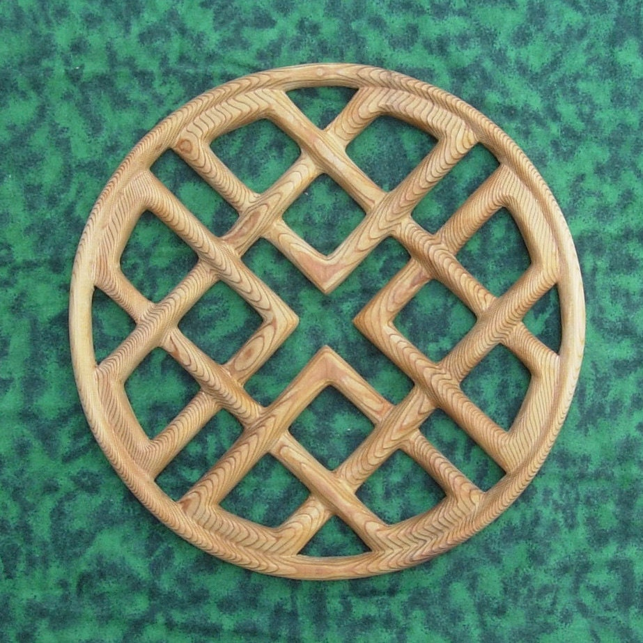 Celtic Knot Of Love And Harmony Heart Shape Wood Carving