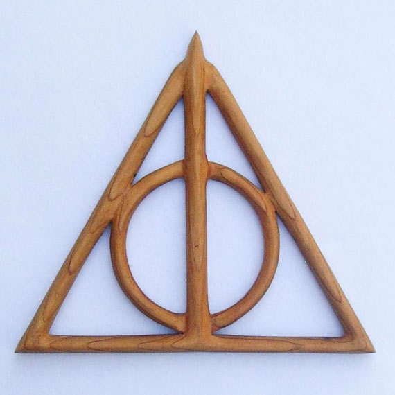 Deathly hallows wood carving cloak of invisibility for Deathly hallows elder wand