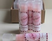 Cherry flavoured lipbalm with added bees wax and pale pink tint