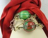 Two Marble Cinch Bracelet