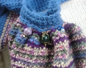 Crocheted Marble Purse With Scarf