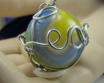 Wire Wrapped Marble With Peace