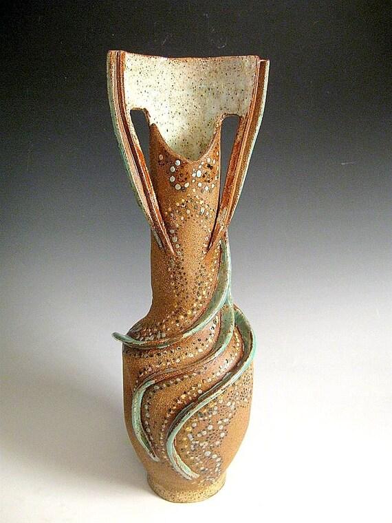 Natural Clay Tall Vase