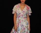 Vintage 1970s Floral Dress-ON SALE was 15.99
