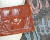 Vintage 70s Lou Taylor Italian Designer Leather Handbag-ON SAaLE was 21.00