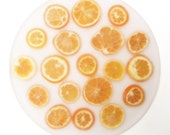 Fresh Orange Slice Resin Lazy Susan