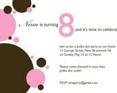 Nina Birthday Invitation ensmeble - PDF only