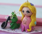 Rapunzel and Pascal necklace