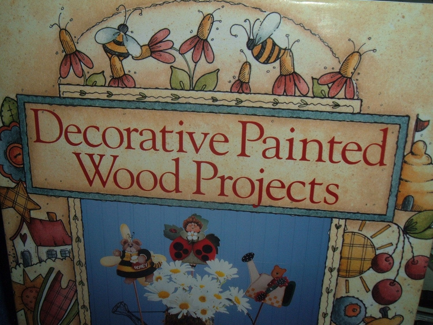 Decorative painted wood projects tole painting book for Wood craft painting ideas