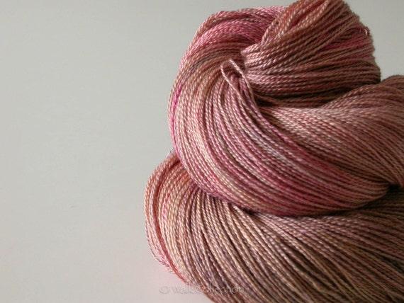 LICHEN ... lace yarn, hand-dyed silk - merino (light fingering weight)